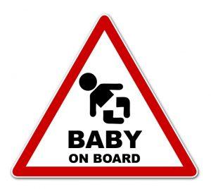 Der typische Babyaufkleber fürs Auto. (#1)